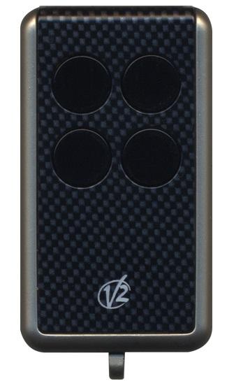 V2-handzender met carbon-look