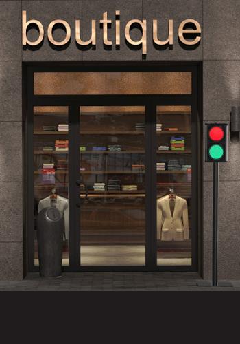 Verkeerslicht voor wachtrijcontrole in winkels